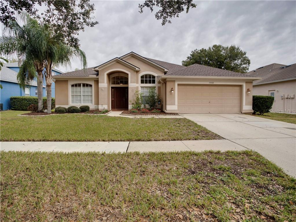 WHO'S GOING TO BE THE LUCKY NEW HOMEOWNER OF THIS FANTASTIC POOL HOME?? Why pay CDD fees and high HOA's? Enjoy this 3 Bedroom with a Den 2 Bath 2 Car garage: BRAND NEW ROOF 2020 Newer Stainless Steel Appliances. Tile and laminate through out just one Bedroom with Carpet. Enjoy your heated pool on those hot Florida days.  This home has been meticulously cared for and is ready for the new owners. This home is ready so schedule your showing today. EASY Access to I75/I4, Tampa Airport, MacDill Air Force Base, Grocery Stores, and top restaurant establishments