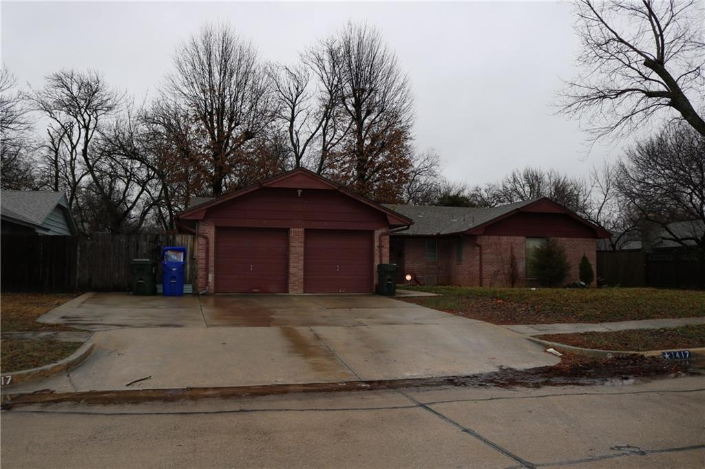 Nice spacious affordable 3 bedroom, 2 baths, 2 car garage, extra concrete parking pad. Property in quiet neighborhood, Norman school district.  Large backyard, everything is in working condition. stove and refrigerator not included, property to be sold as is.