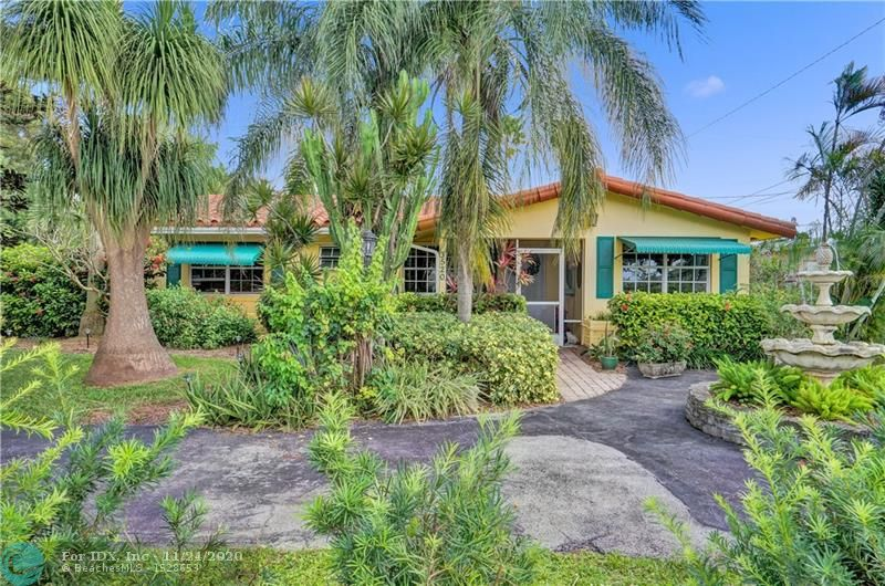 Charming 3BD/2BA home in Oakland Park! Beautifully renovated with wood ceilings, gorgeous kitchen, stainless steel appliances and skylights that bring in tons of natural light. Private landscaped fenced yard is a tropical oasis with pool and covered patio, perfect for entertaining and family bbqs. Equipped with ring doorbell and outside cameras, protected with hurricane shutters and a new portable generator. This home is situated across the street from lakefront Veteran's Park, which offers a walking trail, boardwalk and benches to enjoy the view. Convenient location, just minutes from I-95 and less than 6 miles to the beach. No HOA.