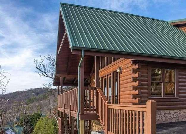 3 Bedroom 3 Bath Log Cabin with Breathtaking Views of The Great Smoky Mountains!  Located in spectacular Black Bear Falls Resort Gatlinburg TN. This cabin is full of luxuries and entertainment. Enjoy the view from your living room or from the porch. Beautifully decorated, living room has all wood interior, cathedral ceiling and a gorgeous stone fireplace. There are three spacious bedrooms and a game room. Easy access and main level parking. Resort offers a great swimming pool for owners and guest.