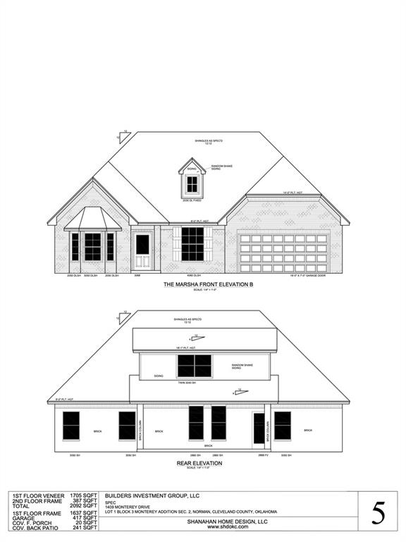 You won't want to miss out on your chance to own this beautiful New Construction home in Norman! This open floor-plan is sure to give you all the space you could ask for. The living room showcases a corner fireplace and large window allowing natural light to flood the room. Spacious primary bedroom is complete with a private en-suite including a double vanity, soaking tub, walk in shower, and walk in closet. Relax under the covered patio in the sprawling backyard. This home is a must see!