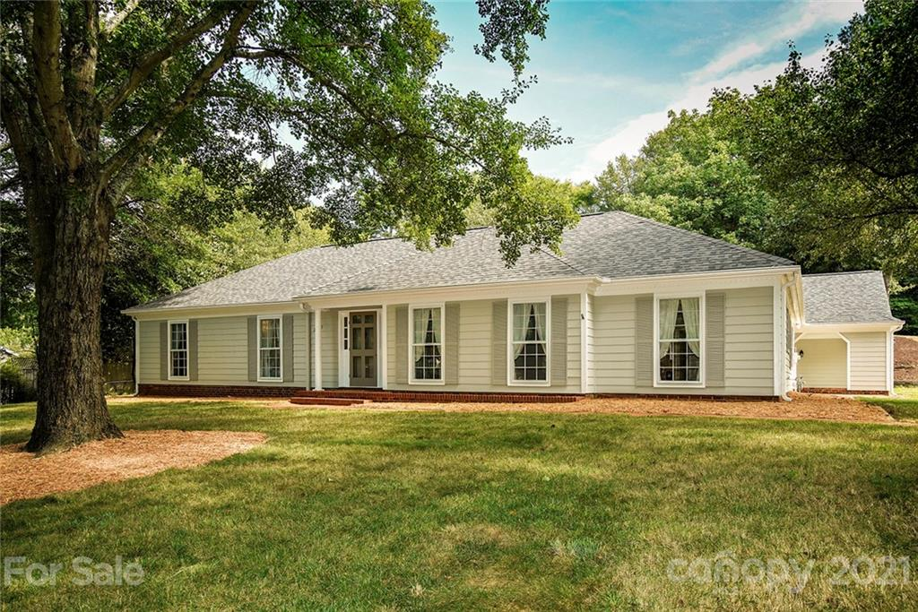 Meticulously maintained and completely updated ranch home located in the highly sought after area of South Charlotte. Recent updates include new roof in 2017, flooring in 2018, interior and exterior completely repainted, removal of textured ceilings, new HVAC in 2018, new sliding glass doors in family room and master suite in 2020, completely remodeled kitchen in 2018 and baths in 2019. This home also boasts a walk up attic in the home, as well as in the storage room off the carport. Prepare to be impressed!