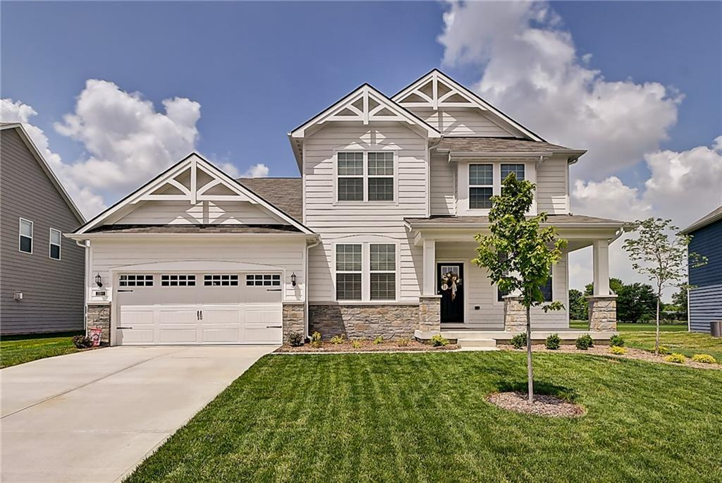 NEW CONSTRUCTION WITHOUT THE WAIT // This BRAND NEW Pulte build in the desirable HSE school district is the blank slate with clean lines and neutral colors that you've been looking for! The spacious Riverton floor plan offers 4 beds, 2.5 bath with 3 car tandem garage and 1400sqft roughed in basement. The main floor features a pvt office with French doors, formal dining, large living room with gas fireplace flowing into an eat-in kit. with oversized island and quartz countertops. Upstairs affords you a second living space/loft, owner's bed with en suite, 3 lrg bedrms with their own WIC's, and 2nd flr laundry room. Basement roughed in for wet bar and full bth. Rev. osmosis system and water soft included! Builder warranty transfers!