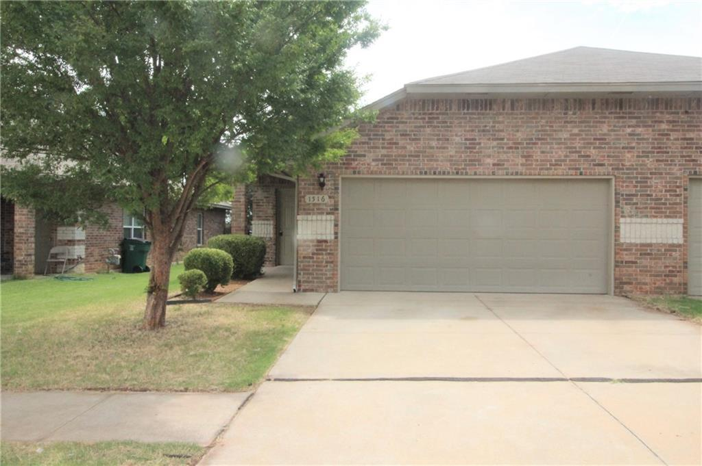Gorgeous 3-bedroom 2-bathroom brick duplex home. Includes 2 car garage, located in Mustang School district, washer/dryer hook ups, granite countertops in kitchen and bathrooms, tile/carpet and fenced yard.This three bedroom, two bath brick home is a must see!!! CALL TODAY…Security deposit is equivalent to one month rent.