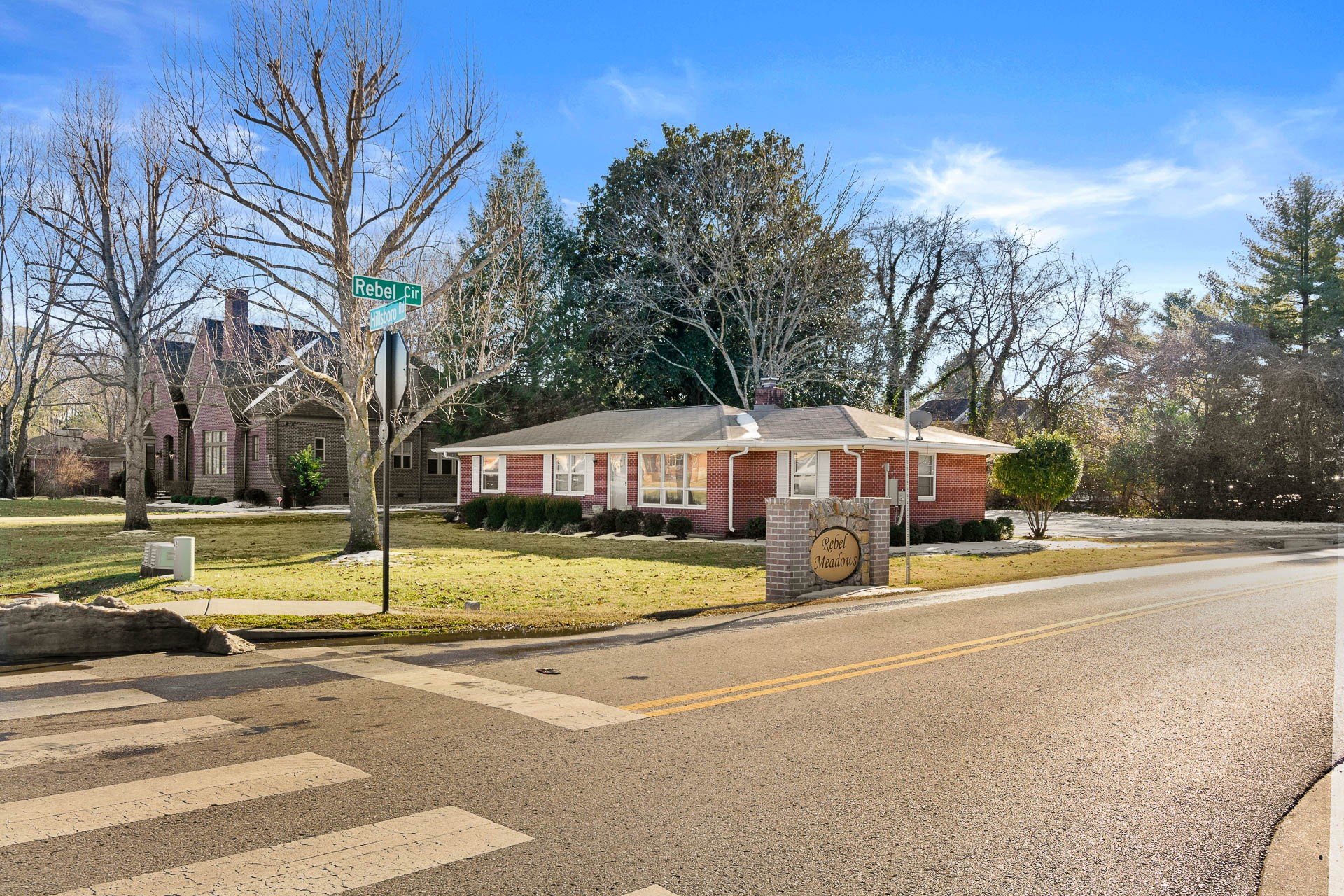 Ranch on .5 Acre Corner Lot One Mile From Downtown Franklin! Attached Back Entry Garage Enters from Rebel Cr.  $1M+ Homes being built on these lots. No HOA.