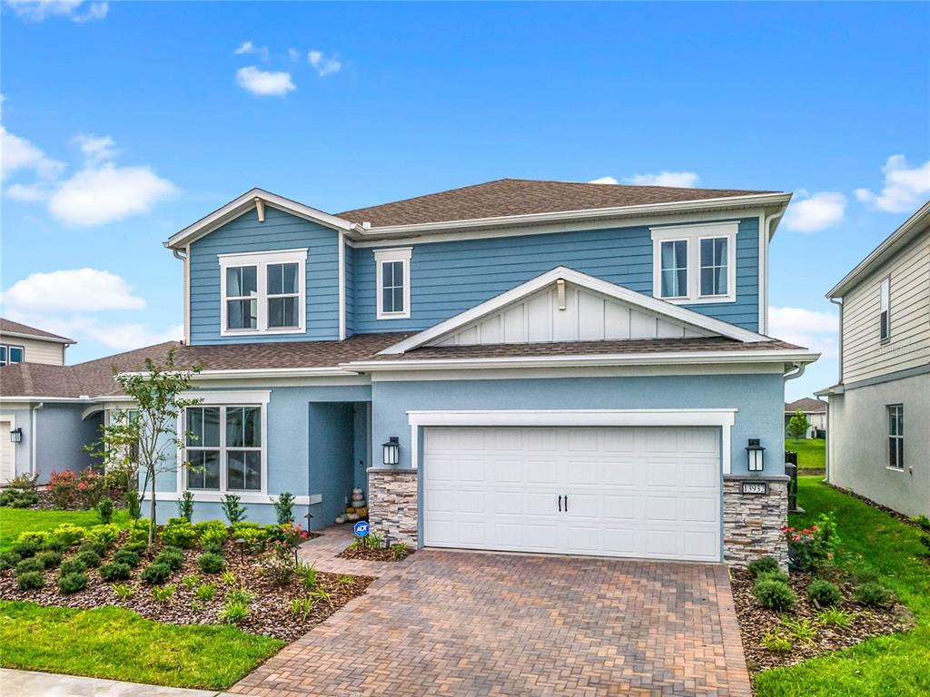 **QUICK MOVE-IN**Why wait 8 months to build when you can move right in!? Welcome to Lake Nona's newest and most sought-after FAMILY FRIENDLY GATED COMMUNITY … The Isles of Lake Nona by PULTE with OUTSTANDING BUILDER AND OWNER UPGRADES! This is a Brand NEW 5BD/4.5BA POOL HOME overlooking WATER VIEWS nestled in a quiet CUL-DE-SAC and Zoned for TOP A-RATED SCHOOLS! Enjoy all the MODERN & RUSTIC bells and whistles with VINYL PLANK floors throughout the home, HIGH CEILINGS, RECESSED LIGHTS, RECLAIMED BRICK ACCENTS, GOURMET KITCHEN, STAINLESS STEEL APPLIANCES, BONUS LOFT, OFFICE/DEN, and tons of NATURAL LIGHT! A sizable PRIMARY SUITE is on the 2nd floor with a WALK-IN CUSTOM CLOSET and EN-SUITE with QUARTZ COUNTERTOP DUAL VANITY SINKS, WALK-IN SUPER SHOWER. The 2nd floor also features 3 generously sized bedrooms, a guest bathroom, and a laundry room. Located downstairs is the 5th bedroom with a private bathroom & walk-in closet. Quick access to highways 417 & 528 - just 30 minutes to Disney or Downtown Orlando and minutes from THE MEDICAL CITY and Orlando International Airport, Nona Adventure Park, the Crayola Experience, tons of restaurants, shops and so much more! Don't wait any longer, begin creating new memories in this picture-perfect HOME!