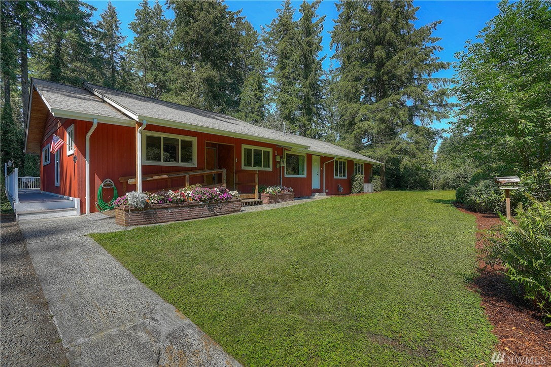 One-owner, solidly built 6 bdrm (+office)/3 bath (shy 4,600sf) home boasts a mid-century layout & a dividable 1 acre (buyer to verify). A remodel would be simply gorgeous, open the kitchen to the living rm w/beams/ a FP/ deck access, use the south bdrm w/bath as a Jr mstr, create a 2nd mstr from two bdrms, enjoy the high-ceilinged bsmt as a rec space, & revel in the garages/shop/carport. 2017 furnace/AC, updated pex plumbing, updated windows/slider, newer 200 amp, & structurally rebuilt deck.