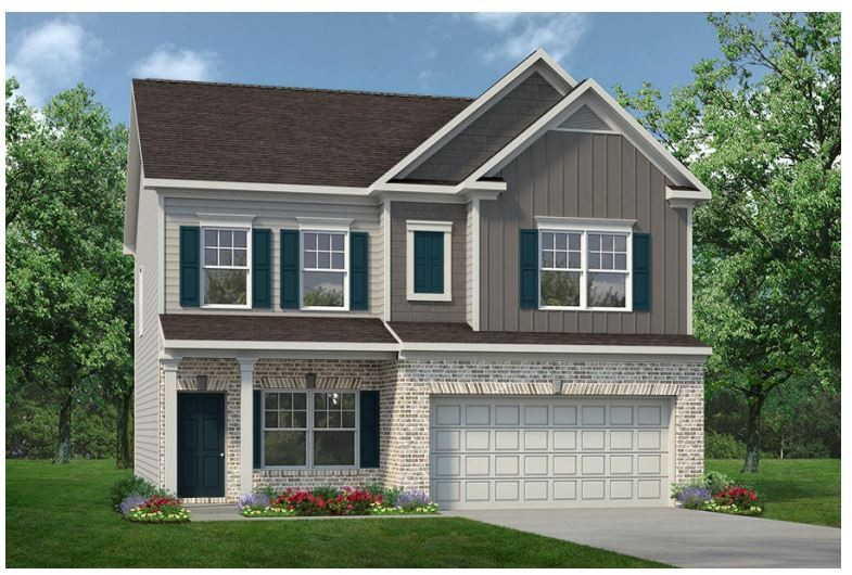 The Cochran Plan by Smith Douglas homes in our newest community, Nichols Vale! You'll be greeted by the Cochran with a covered front porch entry that opens to a welcoming dining room, or library if you prefer.  Expansive sight lines across the back of the home connect the family room to the spacious eat-in Kitchen w/ large island for extra prep space!  Four upstairs bedrooms include an owner's suite with two walk-in closets and roomy secondary bedrooms.  Completion in November