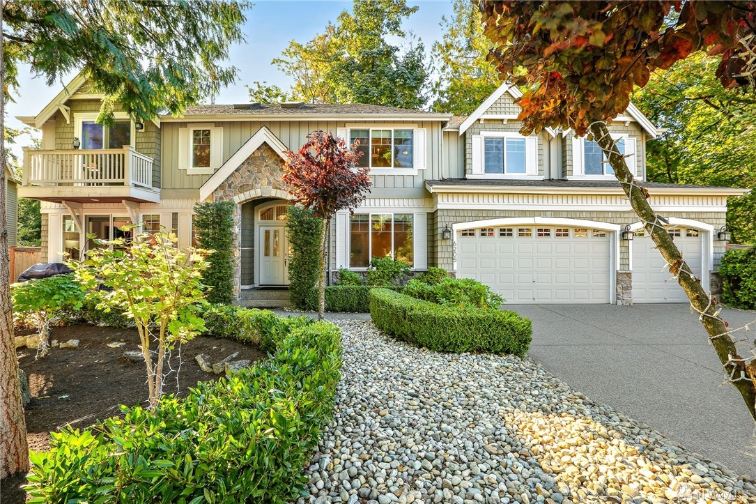 A marriage of form and function abounds! Built-in 2007 and thoughtfully remodeled in 2016, this incredible 4 bedroom home lives like new and looks even better. Rivals any new construction on the market in the area. Walls of windows, hardwood floors, bright open spaces and a serene park-like setting complete this gorgeous picture. Just minutes from Microsoft, downtown Redmond and all the East-side has to offer. New water tank, real wood blinds, and LED lighting throughout.