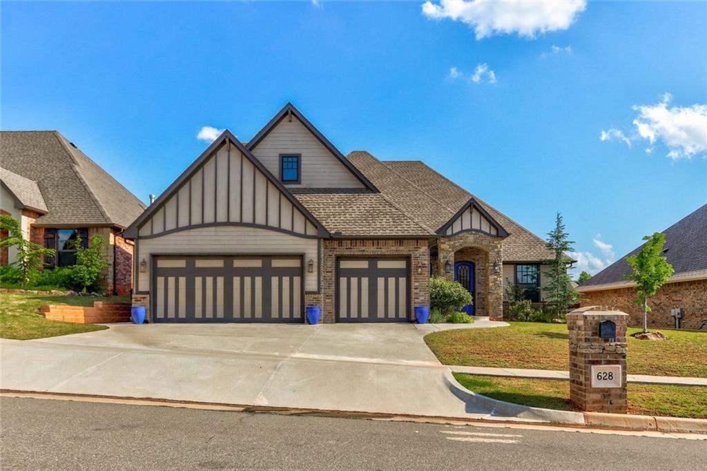 This beautiful home in Stonebriar served as a model home for its first few years & has only been occupied since 2017. The main living, with a beautiful stacked stone and brick fireplace with a reclaimed wood mantel, flows into the large kitchen and dining area. The kitchen features Frigidaire Professional Series appliances and a built-in desk area. The west hallway has ample storage cabinets and connects the secondary bedrooms with Jack & Jill bathrooms. On the opposite side of the house, you'll find the massive master bedroom with a connected room that can be open or closed off with barn doors. This space is perfect for a sitting area, a nursery, or workout space. The master bath with a jetted tub and grotto shower lead into the spacious master closet that connects to the laundry room. Upstairs is a large room with a half bath that could be a fourth bedroom or hangout space. You will be wowed by the amount of storage in this home. There is wiring for sound and security systems.