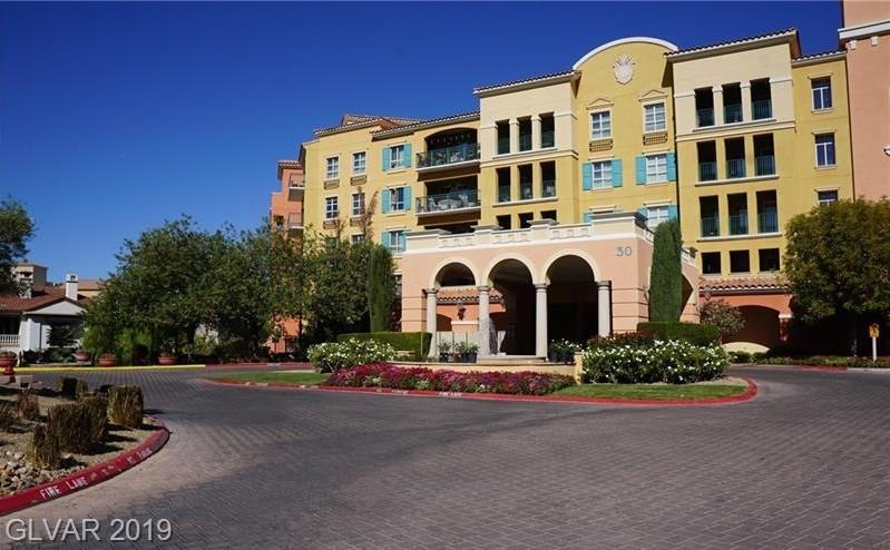 "Furnished 2 bedroom, 2 bathroom condo on the 3rd floor at Viera in exclusive Lake Las Vegas! Spectacular views of Lake Las Vegas, the Mountains & pool. 2 beautiful pools, spa & fitness center. Enjoy Resort living in Lake Las Vegas w/ entertainment, biking, water sports, kayaking, shopping & dining. All utilities included in the HOA dues. Both full-time living & short term rentals allowed w/ proper licensing. Short Sale. Sold in ""AS IS"" condition."