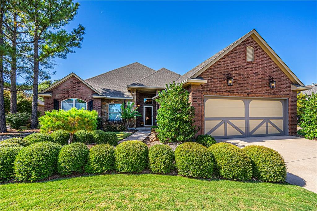 Wonderful NEW LISTING in the desirable community of Capri at Borgata. This area is known for its GREAT LOCATION,  HOA lawn maintenance and pool near I-35 & Spring Creek shopping, Mercy & Integris Hospitals just 2 minute drive!  An absolute JEWEL of a home perfectly positioned for the particular Buyer looking to RIGHTSIZE without sacrificing LIFESTYLE. Wonderfully updated from top to bottom with over $50k in upgrades from the roof & rain gutters, to all new LOW-E windows, NEW HVAC,  gleaming NEW light fixtures & ceiling fans, paint and carpet to the lovely granite countertops & fixtures including new toilets in the master bath & 2nd bath.  The Chef's kitchen has upgraded Shelf Genie Drawer guides and pullouts! Open floor plan perfect for entertaining, elegant views of the living room and majestic fireplace, not to forget the lovely Formal Dining and a true study. New plantation shutters for Beds 2 & 3 will be in soon to be included in the price!