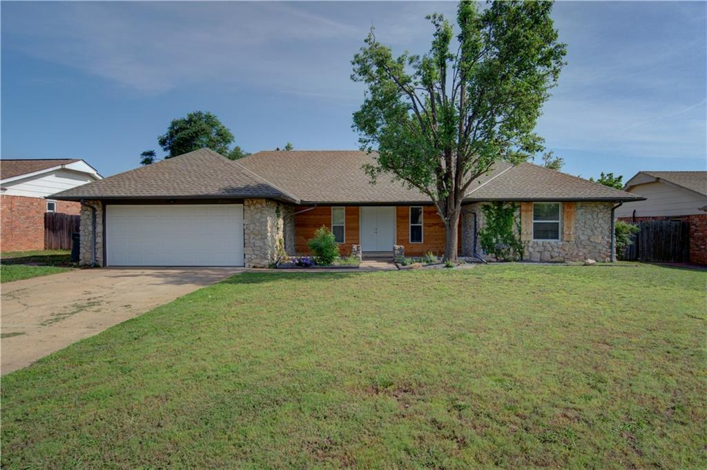 """Fun in the sun for the whole family!  Stay cool in your sparkling pool or catch some shade on the large covered patio.  Large open deck too!  Then step inside this wonderful 2019 contemporary remodel.  New windows thru out, new kitchen cabinets, quartz countertops, refrigerator, built-in cooktop, oven, microwave, disposal, farm sink, faucet, lighting, island and pantry.  Vinyl plank flooring thru out.  Remodeled half bath off of kitchen.  Bedroom 4 is MIL plan off of kitchen.  Kitchen, dining, and family room with fireplace, bookshelves, and ceiling fan are a wide open concept.  3 bedrooms on opposite side.  All have ceiling fans.  Hall and master bath have been tastefully renovated with new tub and shower enclosures, vanities, granite countertops, mirrors, lighting, sinks, faucets, toilets, & hardware.  New solid core interior doors.  exterior doors, and insulated garage door with a new opener.  2"""" blinds.  HWT. New pool pump & filter.  Storage shed.  Added insulation. Call today!"""