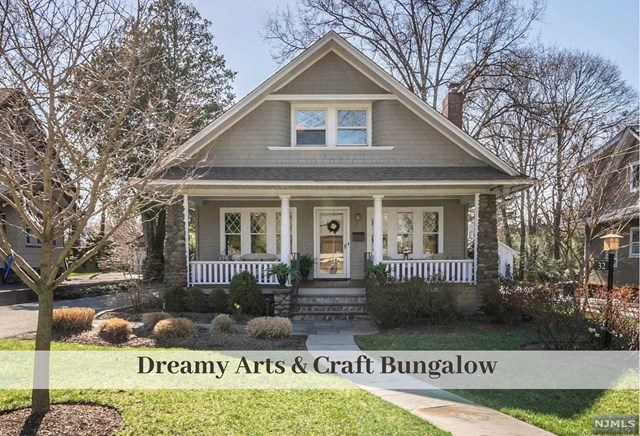 Fully restored & meticulously maintained classic Arts & Craft Bungalow on quiet, charming street just 2 blocks from town & train. Covered Front Porch transitions to open concept double LivRm w Fplc & recessed lighting. Nearby is bright Dining Rm w plate rail trim & Priv. Home Office w lrg Closet. Crisp Kitchen has SS Appliances, Shaker Cabinets, Isl. Seating, expansive Granite Counters & Sliders to convenient Trex Covered Landing Deck. Glorious Dining w Cath Ceiling & Built-In Desk delivers stunning views to Bluestone Patio & Lawn w surrounding Mature Privacy Plantings. 1st Fl Bdrm w nearby Full Bath completes this floor. 2nd Fl offers inviting Seating Area, Mast.Bdrm w great closets, new Full Bath & Bdrm. Striking metal and mahogany Staircase punctuates outstanding Lower Level w Family Rm, Office Area, Spa Bath, spacious Laundry & Storage galore. Oak Flooring, Sprinklers, 2 Car Gar. New Driveway w block edging. Join this amazing 'Bradford Community' of neighbors.