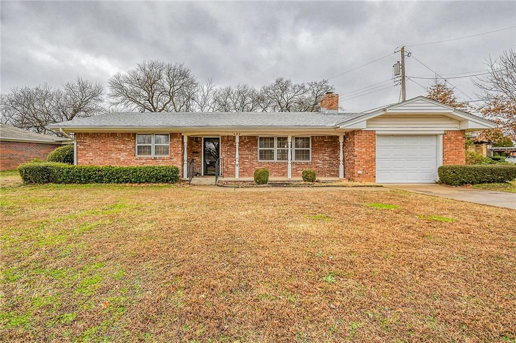 Great opportunity to buy close to campus and close to downtown. This home is approximately 1 mile from the OU campus, an easy walk to the OU football stadium! Yes, the home needs some love and updates, but good bones and  some cool vintage features. This 2 bedroom, 2 bath home has a screened in porch, which could be converted into a third bedroom or separate living area. It has newer heat and air and a wood burning fireplace. The living area has a built in desk and shelves, and the second bedroom has built in shelves. Good storage for a home this size! If you are Chip and Joanna Gaines types, come take a look. So much potential here!  * OFFERS WILL BE OPENED ON MONDAY, MARCH 2 AT 5 PM.