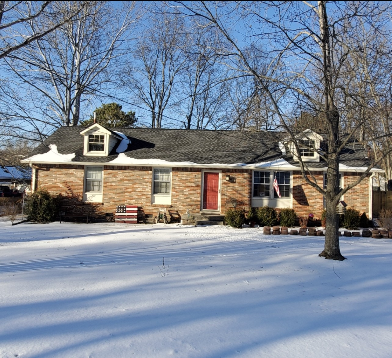 *Brick 3 Bdrm home with Fenced in Rear Yard* Pergola will remain with property* Original Hardwood* Kitchen has large Pantry! The storage building doesn't stay. As-Is Condition