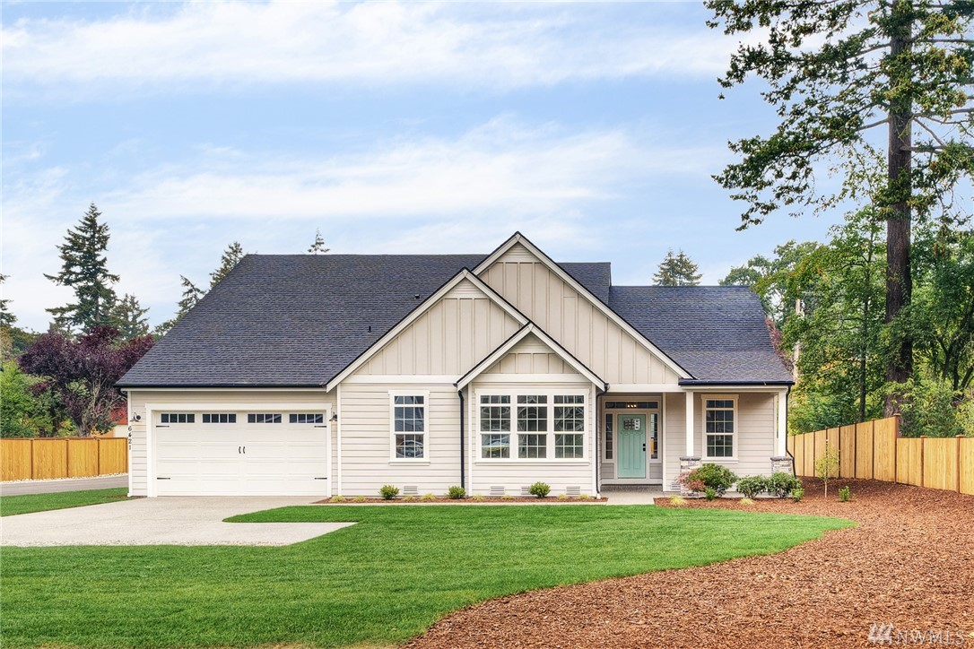 "Brand New Home by Cascadia Homes!2488 SF, 3 bd/2 ba Rambler w/upper floor bonus room on large .34 acre. Stunning finishes throughout! Luxury wide-planked floors, 9' ceilings, 6"" white baseboards, white doors/cabinets & wood wrapped windows. Open floor plan boasts dream kitchen w/quartz counters/SS appl/under cab lighting & soft close features. Master Suite w/private bath - marble tile, soaking tub & WI closet.3 car garage w/room for shop space + RV parking. Minutes from shopping, JBLM, and lake!"