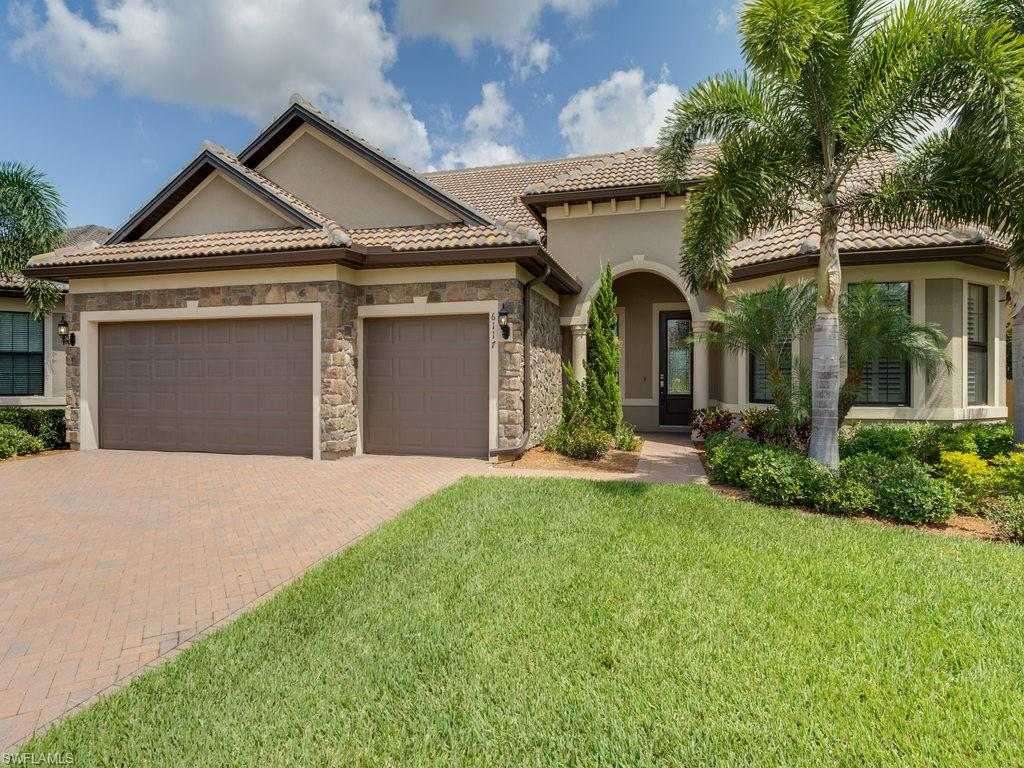 H.14479 - The finest luxury home ever built in Del Webb, located at the end of a quiet street, no through traffic. Perfect for visiting family,the second floor adds over 800 Sq.Ft. Premium Lot ($50,000.- savings). Custom pool & spa(salt system)rear faces northeast for shade. The custom oversized cage & patio are the entire width of the rear of the home. Exceptional quality in finishes.  Panther Run Championship Golf Course with an Aqua driving range &restaurant/bar that is open to the public. Full golf membership deeded with home($11,500.-savings). Oasis Club has resort style amenities to ensure residents can enjoy an active,healthy lifestyle while maintaining social connections. Miles of bike & jogging paths.Home has a golf cart extended garage.Perfect for folks who love to entertain. Not far from the College town of Ave Maria. It's time to buy in paradise!