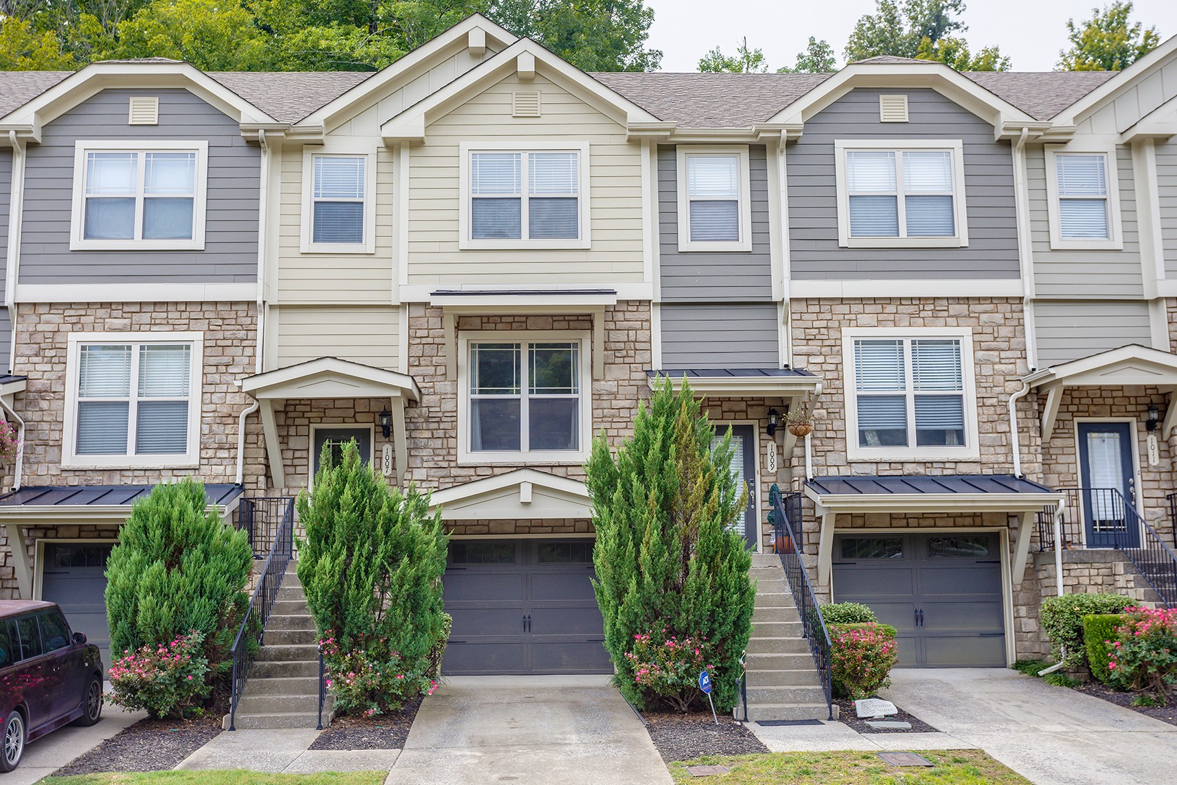 Spacious 3 story townhouse with private patio.  3 bedrooms, 2 full baths, 2 half baths. Open concept Kitchen/dining/living area. Perfect for entertaining.  Finished room in basement could be an amazing home theater. Lots of storage and closet space.