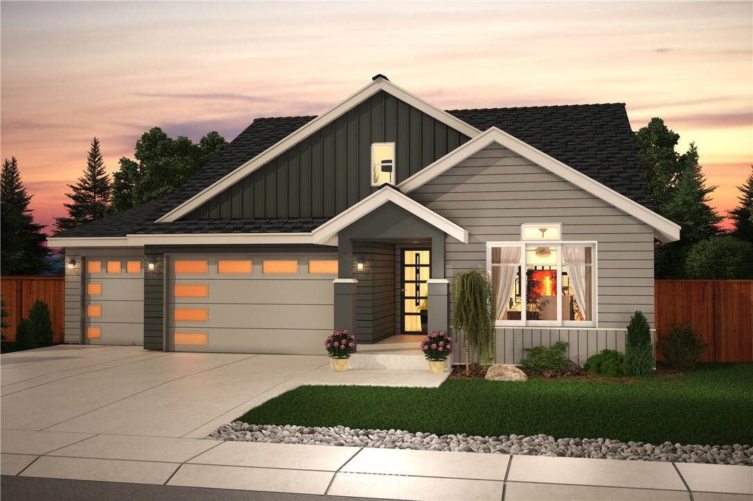 """The ever so popular Ainsworth rambler style plan now has 2 Master Suites! This community is within minutes of Bonney Lake Retail/Dining, Lake Tapps & quick access to HWY 410 & 167. Impressive Standard Features include 36"""" tall soft close cabinets, 3cm granite or quartz counters, SS appliances, 5 panel doors, freestanding tub & more! 2,992 ft of living space including Open concept Great Room/Kitchen w/ Nook w/ LG extended covered rear patio perfect for entertaining. The Ainsworth Multi Gen plan now features a second master suite & a Great Room upstairs. Room for RV parking!"""