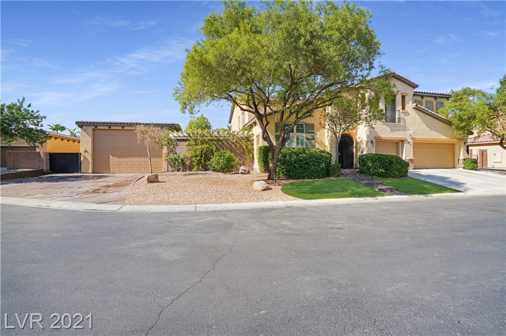"""Over $700k in upgrades including massive RV Garage (2100 sqft) and casita! Upgraded flooring, shutters, crown molding throughout; Gourmet kitchen w/ white custom cabinets; 2.5"""" Granite counter tops w/ white, grey, and black veins running throughout; over $40k in appliances including free standing gas range, upgrade vent hood, pebble ice maker, built in convection microwave, upgraded dishwasher; Large Family Room w/ built in surround sound, huge built in featuring decorative stone, cedar shelves, shiplap, & contemporary fireplace; Large Primary Bed features coffered ceiling w/ accent lighting, fireplace, 2 separate walk-in closets, upgraded granite counter tops, walk-in shower w/ multiple shower heads; Upstairs features large media room w/ stadium seating, Huge Loft, Large beds.  Climate controlled RV Garage is 30'Wx70'D w/ 14' Door. Casita has kitchen, living room, bed, bath and laundry. Pool has rock water slide & waterfall, spa, and plenty of room for entertaining. TOO MUCH TO LIST!"""