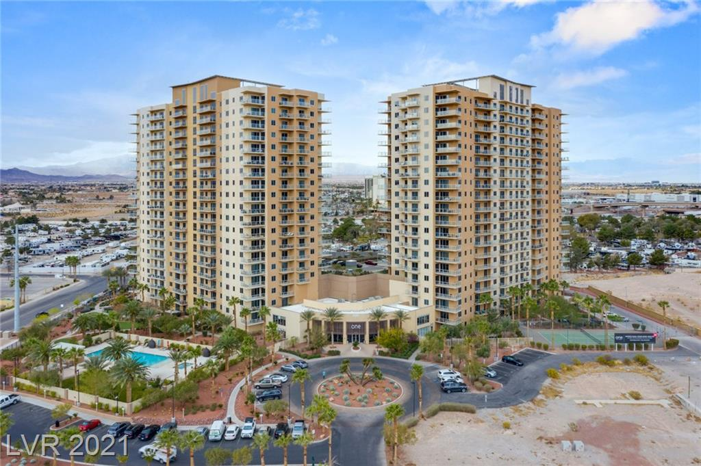 Lovely 2 bedrooms and 2.5 bathrooms condo on the Strip.  One Las Vegas high rise has myriad of amenities to be enjoy by residents.  A concierge, valet, fitness center, pet park, pool with cabana, recreation room screening room and business center.  To appreciate the living spaces, you must see it in person.