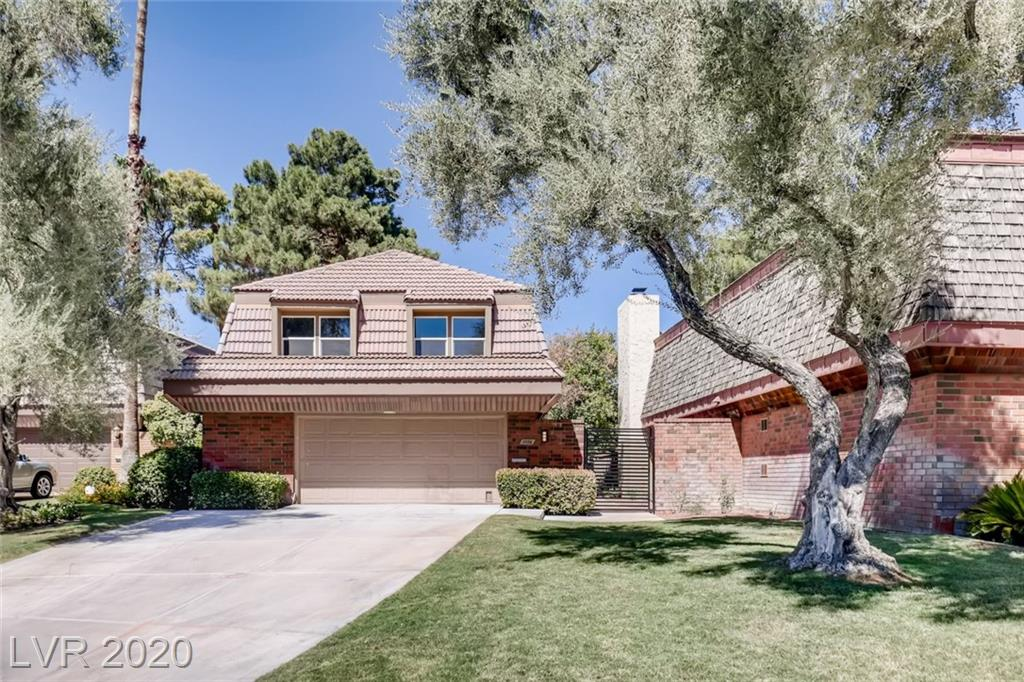 Amazing opportunity to own this stunning 3BR home in the historic, guard gated, famous Las Vegas Country Club Estates. This fully rehabbed golf course gem also has 2000+ sq ft bonus lot with park like oasis large enough for a dream pool. This luxurious home has been meticulously done from top to bottom.  Some features include all new windows, LED recessed lighting, 2 new AC units w Nest, custom railings, black graphite appliances, high ceilings, large custom doors, quartz counters, custom cabinets & much more. Kitchen incl double stainless sinks, beautiful subway tiles, gas range, and raised ceilings with large island. Dual gas or wood burning fireplaces on both floors including the master. Master suite has large walk in closet, washer/dryer, large shower, and make up table. New landscaping, concrete, fences, gates, sod, gas bbq connections, & app controlled irrigation finish off this golf course view. Close to everything with a 2.5 car garage and golf cart parking!PLS SEE VIRTUAL TOUR