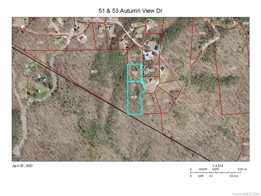 2 lots  to build on! Totaling 2.86 acres or Build 2 homes! Bring your plans and your dreams! Exceptional year round views and location! 35 Minutes to Asheville, Hendersonville, or Black Mountain and just 15 Minutes to Chimney Rock/ Lake Lure. These two lots are in Buncombe County with only a tiny corner of #51 in Henderson County