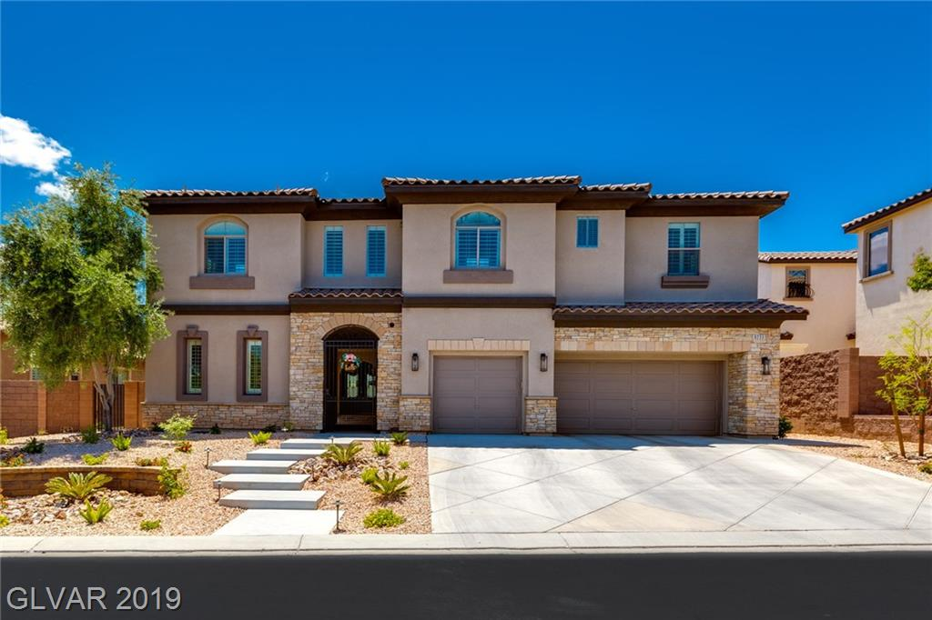Highly upgraded, immaculate home in gated community in Mountains Edge. Featuring over 4,600 sq ft with 5 bedrooms, a casita, loft and 5 bath. Courtyard entry leads to glass double door entry. High ceilings and marble floors on the main level. Oversized island kitchen with stainless steel appliances (2017) , granite counters. Separate formal dining, living and dining areas. Master bedroom and upstairs loft with private balconies. New pool/spa.