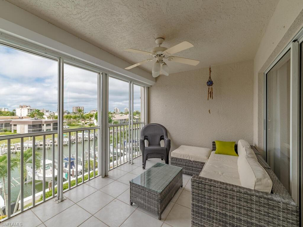 Beautiful 3 bed 2 bath updated direct access condo with a boat lift. Located on the south end of Marco island this condo has a west exposure for to be viewed though the great room picture windows to capture the Marco skyline view and sunsets. Updated kitchen with quality wood cabinets, granite counter-tops and stainless steel appliances. Freshly painted unit with new wood floors base boards and trim. Deed dock #9 with an 8,000lb lift allows quick access out to through Caxambas Pass to Gulf Of Mexico. Condo also offers assigned parking spot in garage and huge storage room to store all your boating and beach gear.