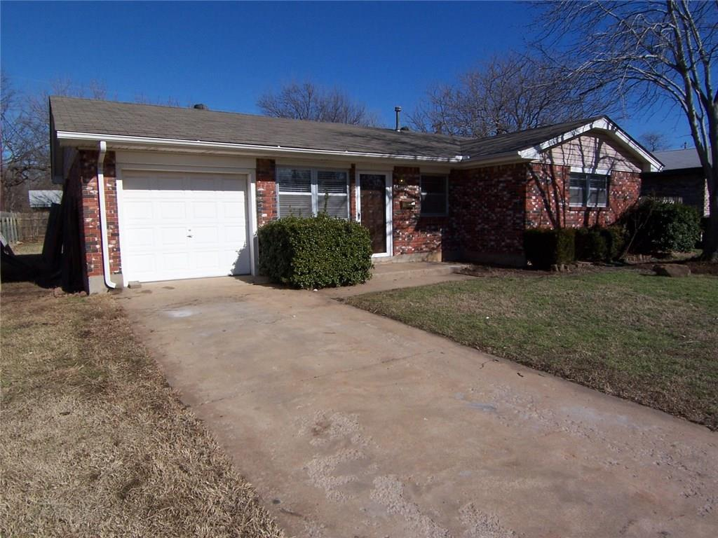This 3 bedroom, 1 1/2 bath, 1 car garage home is close to campus (less than 5 minutes), nicely renovated and available December 1, 2019.  It has an inside utility and comes with a refrigerator and, if a tenant prefers, a washer and dryer.  The backyard is large and fully fenced.  There's a nice wood deck off of the back of the house as well.