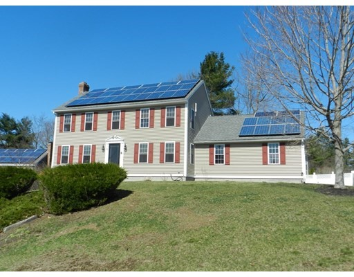Check out this country charmer located on a cul de sac in bucolic Rutland located in the Wachusett district. This 3 bedrm, 2 bath home sits on a lovely lot with a partially fenced in backyard. The living room boast a brick fireplace , hardwood floors and is open to the pleasant kitchen with walnut counters.  The family room addition that overlooks the backyard adds to this wonderful home. It's sliders open to a patio that is large enough for people to gather 6 feet away from each other! The dining room is great for entertaining. The master bedroom has two walk in closets and wall to wall carpets. The finished lower level would be terrific for either an addition living space, home office or school room!  The wonderfully economical home has 5 mini splits that have a/c and heat! This and solar panels offer very low heat costs! The original heat source is fhw by oil and has 3 zones. Schedule through mls by emailing agent for showings on Saturday, April 3 from 11-1:30. Closing after june 1
