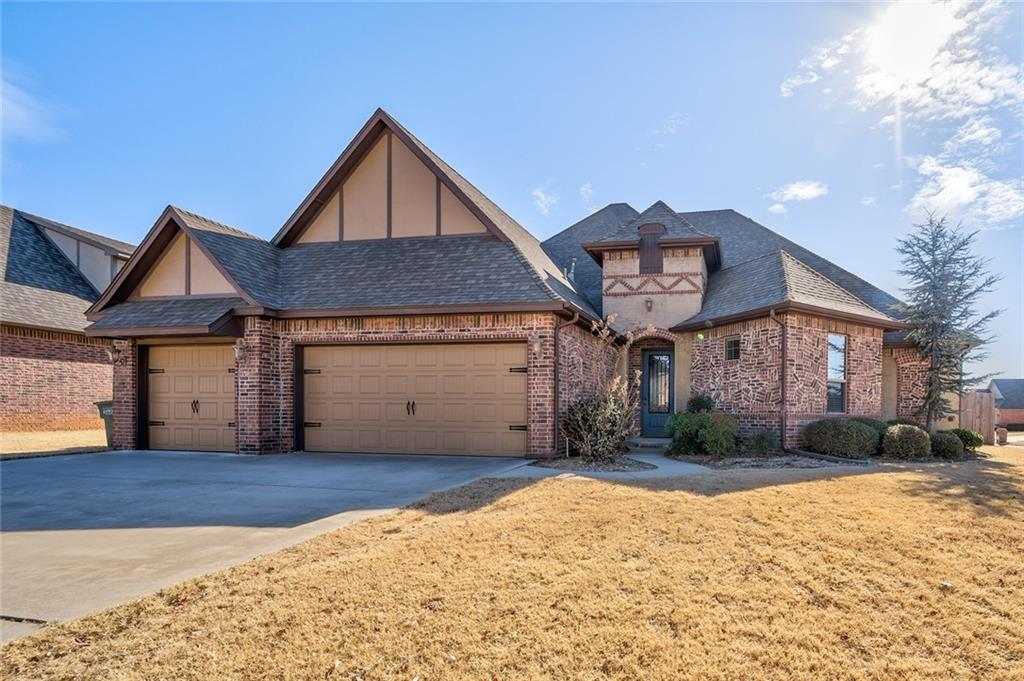 Simply gorgeous home on oversized corner lot. Open kitchen/living/dining plan with fresh paint and updated colors. Functional kitchen with gas cook-top, double oven and walk-in pantry. Roomy living area with cathedral ceiling and stone fireplace. Study/4th bedroom has wood flooring, custom ceiling treatment and walk-in closet. Master suite is oversized, with cathedral ceiling, patio access, tile shower and separate whirlpool tub, double sinks, walk-in closet and connects to utility room with sink. Secondary beds are large, hall bath has double sinks. Covered patio, sprinkler system. Neighborhood pool. Fantastic area, close to shopping, entertainment and Mitch Park. One year home service agreement in place. This property is clean, well cared for and move in ready.Buyer to confirm schools.