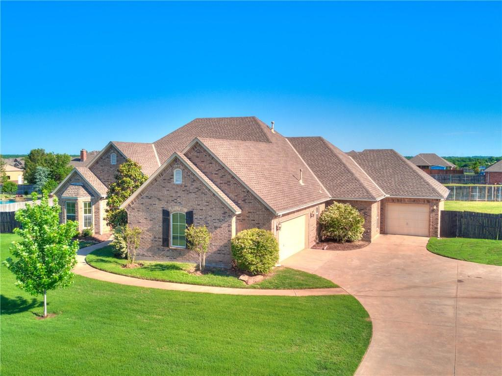 This beautiful home features 4 bedrooms 3 bathrooms on nearly an acre in Deer Creek schools. Whole home generator, wood flooring, and extended back patio are a few of the recent additions made to this home. Granite countertops, stainless steel appliances, double oven, gas cook top, island and pantry, make this kitchen perfect for any occasion. The master bedroom has large shower, walk-in closet whirlpool and access to the backyard. The state of the art swim spa, lets you swim, exercise, play, and relax; it's the perfect fun-and-fitness solution for everyone.