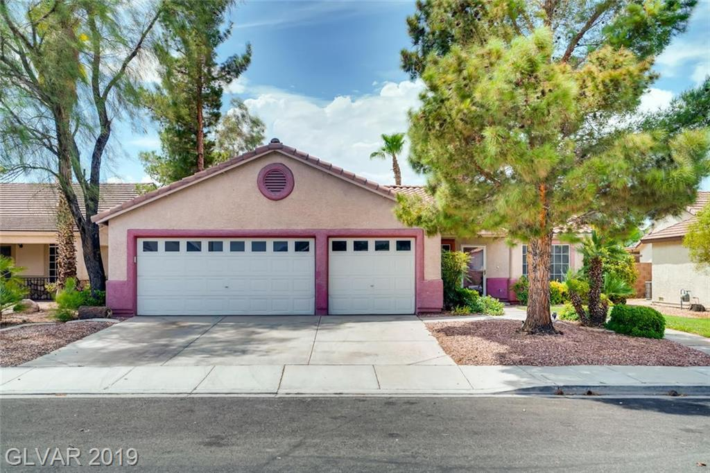 Single story home in Henderson features open concept living space, 4 bedrooms, large covered patio allows you to comfortably enjoy the outdoors from the comfort of home. 3 car garage. Mature landscaping.