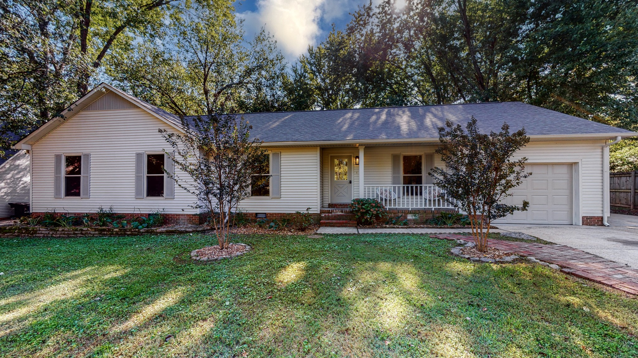 Offers Due Monday, October 25 at 1 p.m. Completely Renovated 4 Bed/2 Bath Home in the Heart of Franklin! Open Kitchen/Living Room with Exposed Beams, Built-In Shelving, Wood Burning Fireplace, New Kitchen with Quartz Countertops, New Bathrooms with Marble Countertops, Double Vanities, Primary Suite with Walk-In Closet, Large Mudroom/Laundry Room, 1-Car Garage. Screened-In Porch Overlooking Oversized Private Fenced-In Backyard with Firepit. Minutes to I-65, Downtown Franklin, Restaurants, Shops!