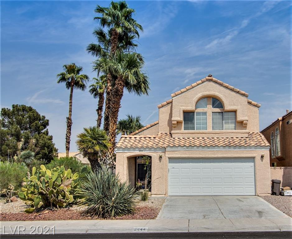 Lovely two-story home on an oversized corner lot in beautiful Desert Shores!!  Vaulted Ceilings in the foyer, living room and master bedroom. Cozy fireplace in the family room. Separate formal dining room off of the living room for those wonderful family gatherings. Secondary bedroom with wood laminate floor and ceiling fan. Desert Landscaping out front and faux turf in the back. Sparkling heated pool and spa, French doors leading out to the back. New Solar panels. Close to man made lakes, jogging trails, parks, shopping, dining and more!