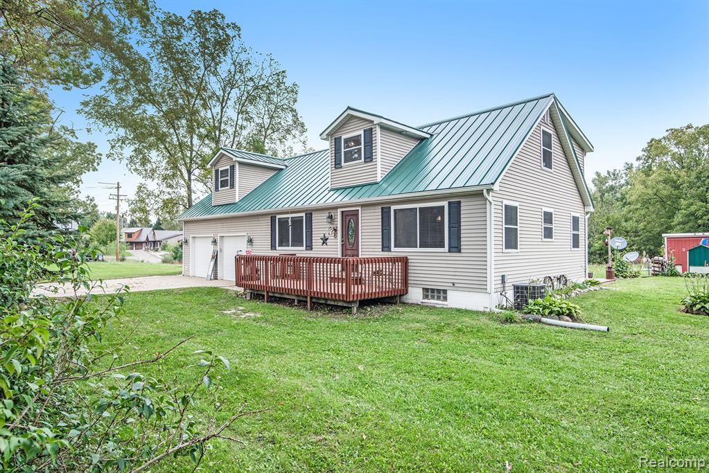 10.01 Acres of country setting, ideal for hunting! Lots of trees and woods with open pasture areas for horses. New 40x30 barn with cement floors. This new barn has two 10 foot overhead doors with spray foam encapsulated insulation. Value 2'' R-14 walls and 3'' R-21 ceiling. Chicken coop, fenced dog run and 2 stall horse barn 30x14. Home features a spacious 3 bed, 2 full bath cape cod. Country kitchen with eat in dining area and ample storage. Full basement ready to create more family space. Master is very large and offers another 10x8 room that would be perfect to convert to a walk-in closet or possible 3rd bath! New metal roof in 2020. Option to heat the whole home with wood stove.