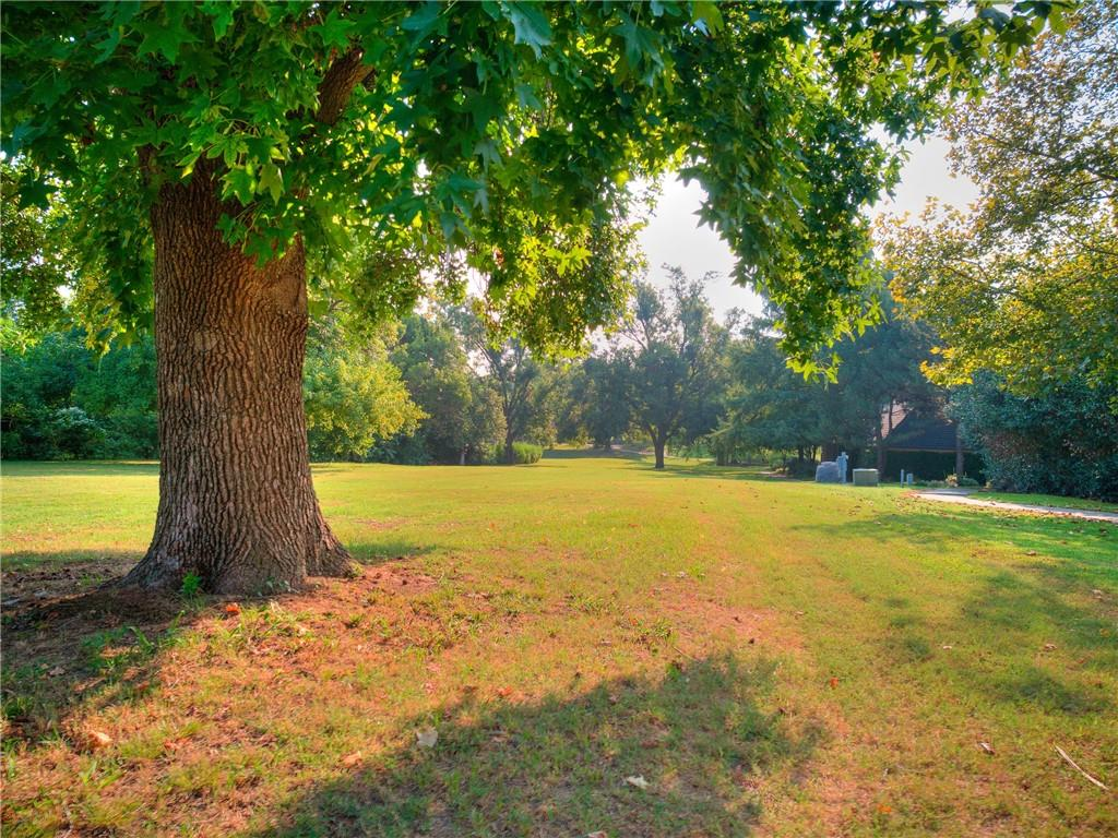 Location, location, location! Gorgeous 1 acre lot almost hidden in the heart of Norman.  Just blocks from the University of Oklahoma Campus, enjoy all the mature trees and walking trail just behind the lot.
