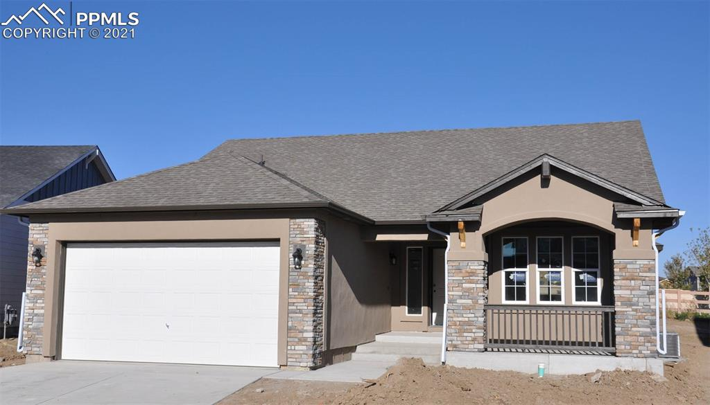 Ready in November. Providence II ranch plan with 2 car garage with 4ft. forward extension in Indigo Ranch. 4 bedroom, 3 bath home. 5 pc. master bath. Kitchen features white maple cabinets with pewter glaze. Quartz counters, stainless appliances with gas cook top. Air conditioning. Bay window in Dining Room. Includes gas fireplace in great room. Finished basement includes 1ft. taller ceilings, plus 2 bedrooms, 1 bathroom and recreation room.