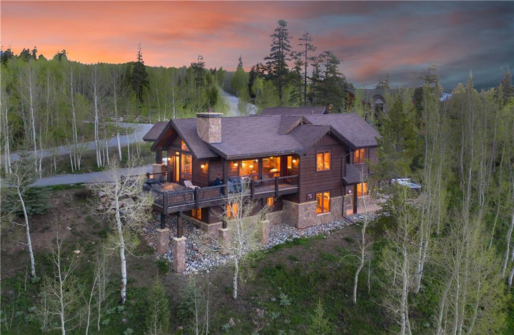 Featuring a 5 acre site, the 270 degree views are stunning. Take in the Continental Divide to Baldy Mt. south, Peak 1 at Frisco and Buffalo Mt of the Gore Range and views of Lake Dillon. Exceptional quality, fit and finish. The floor plan was designed for ease and comfort. Direct access from the 3 car garage to main floor great room, gourmet kitchen and master bedroom. Huge family room is equipped with extensive audio visual system. Custom home beautifully maintained by the original owner.