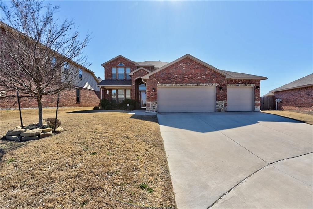 Beautiful home in like new condition! Lots of upgrades: fiber internet connection, granite counters, upgraded cabinetry, wood blinds throughout.  The kitchen features a gas range for the family chef and the bay window provides a large dining area.  Open concept living room and kitchen that opens to the 2nd story bonus room.  The welcoming entry, a formal dining room that could be used as an office or den, and large rooms make this a very comfortable house.  Master suite on the first level with dual vanities, walk in closet, separate tub and shower and tons of storage.  Swing set stays with the house, if you like.  Buyer to verify schools.  Schedule your showing soon!