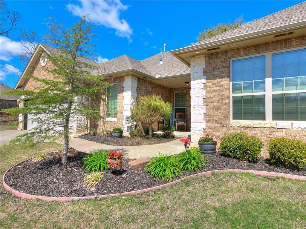 What a wonderful home located on a peaceful cul de sac! You will truly feel like you have the peace and quiet of the Country without sacrificing the easy access to Highway 9 and I-35 that this location offers! This home has pride in ownership throughout. Featuring a well thoughout floorplan, 4 bedrooms, 2 full bathrooms, 1/2 bath, great dining space, a true office space, 10 person storm shelter, oh and don't forget the extra living space which makes a great media room or additional bedroom if needed! Love your outdoor space? The home sit's on a .93 acre lot (mol) and per the seller is one of only 5 homes that has access to the fully stocked pond! Welcome home! (buyer to verify all information.)