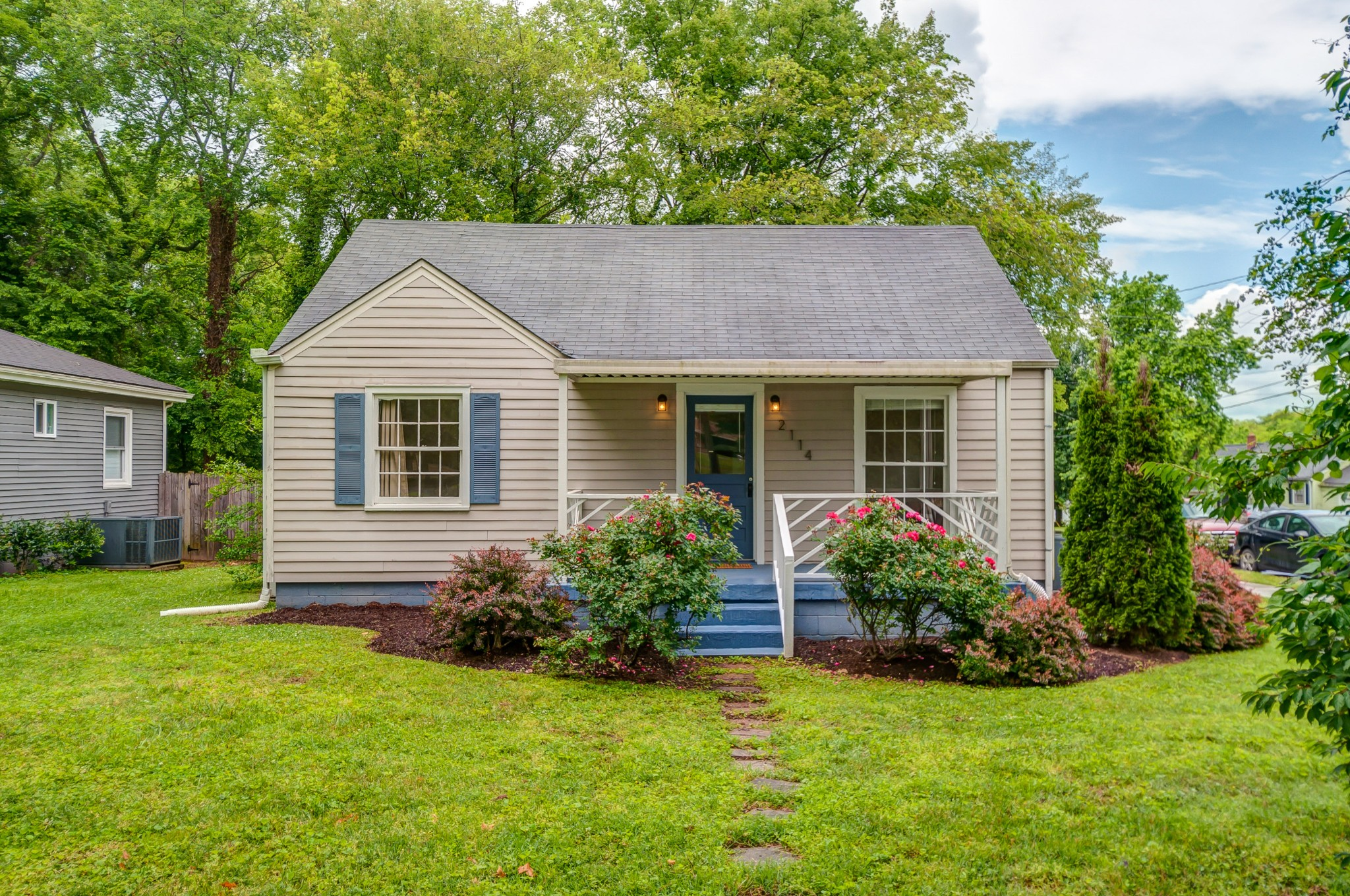 Wonderful move-in ready home with corner-lot, private off-street parking, & excellent usage of square footage.  Showings begin on 5/29 and offers presented on Monday 6/1. Upstairs ensuite bedroom has it's own mini-split a/c unit.