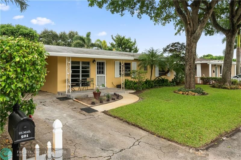 Don't miss this opportunity to own this 3 bedroom 2 bath home with pool and large back yard in Wilton Manors.  This home offers updated open kitchen with seamless corian counter top and plenty of storage.  The sun room overlooks the large well manicured backyard oasis with pool, low voltage landscaped lighting, fire pit, and large storage shed.   This home also offers a renovated bathroom, new plumbing throughout, updated electrical system, separate laundry room with storage, and large carport.   The roof also has newly installed seamless gutters.   This fantastic home is minutes from all that Wilton Manors, Oakland Park, Fort Lauderdale beach and Downtown Fort Lauderdale have to offer.
