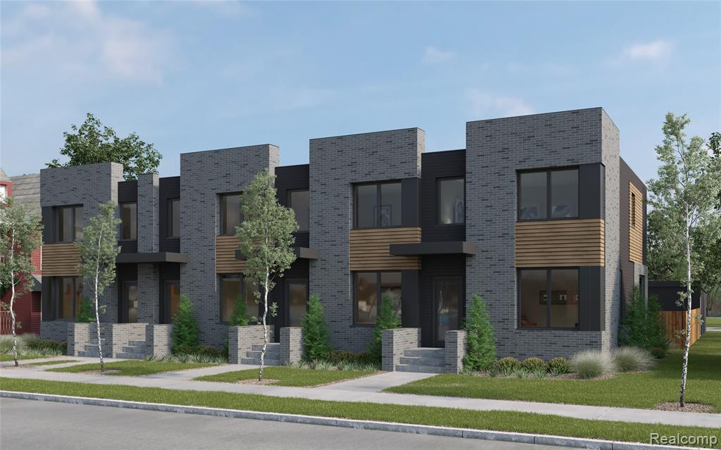 NEW CONSTRUCTION DEVELOPMENT. ESTIMATED OCCUPANCY SUMMER 2023. The Pallister Gardens Townhouses are located on the cusp of Henry Ford Hospital to the east, W Grand Blvd to the south and La Salle Gardens to the west. Comfortable, 2 story, end-unit townhome with extra windows, a 27' x 39' fenced backyard, and detached 2 car garage. The 1st level contains the living room, dining, kitchen, and powder room. The 2nd level includes 2 bedrooms, each with their own private bathroom. The 3rd level contains 2 bedrooms and 2 full bathrooms, plus a laundry area. The property will qualify for a 15 year NEZ Property tax abatement for principal residents.