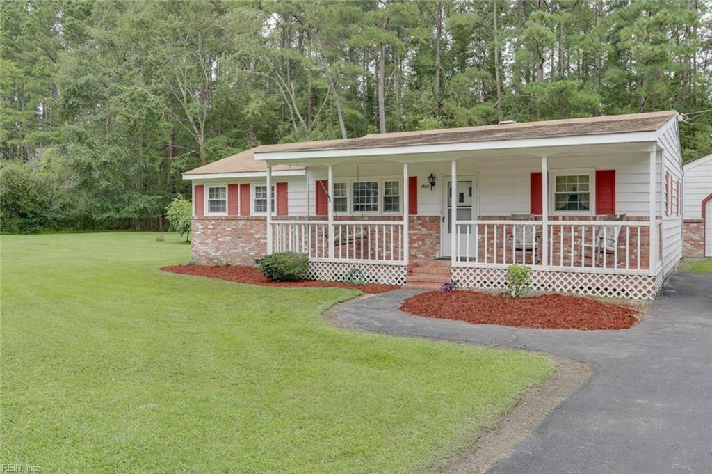 Nice 2 Bedroom ranch in Great Bridge on a half acrelot in the Grassfield High School District. Large 2 cargarage with electrical service. This semi secluded location is a limited opportunity at a great price!