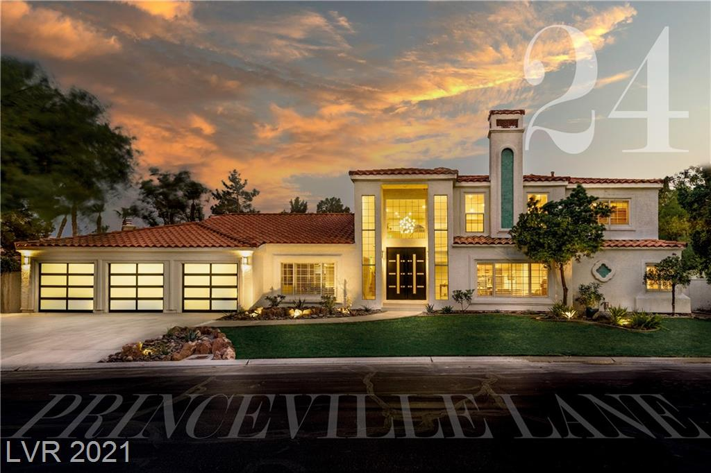 HIGHLY SOUGHTAFTER SPANISH TRAIL COMMUINTY.  Newly remodeled, guard gated, golf course community, and minutes from the Las Vegas Strip! Sprawling home sitting on a 13k sq ft lot, oversized window with tons of natural lighting. Large open rooms, marble, wood & title flooring throughout the home, no carpet! The kitchen features a oversized island, new soft close cabinets & draws. G E built in refrigerator, stainless steal appliances, breakfast bar and pantry. Separate dining area, oversized living room with fully operational bar with beverage cooler, ice maker and sink. Large laundry room with refrigerator and cabinet storage. Second story is solely dedicated to the primary bedroom, which features a sitting area with fire place, private office, oversized walk-in closet, jacuzzi tub, huge walk-in marble shower, custom vanity area with led lighting. Backyard w low maintances landscaping, artificial grass, built-in barbeque area, pool and spa combo, covered patios and secluded gazebo area.