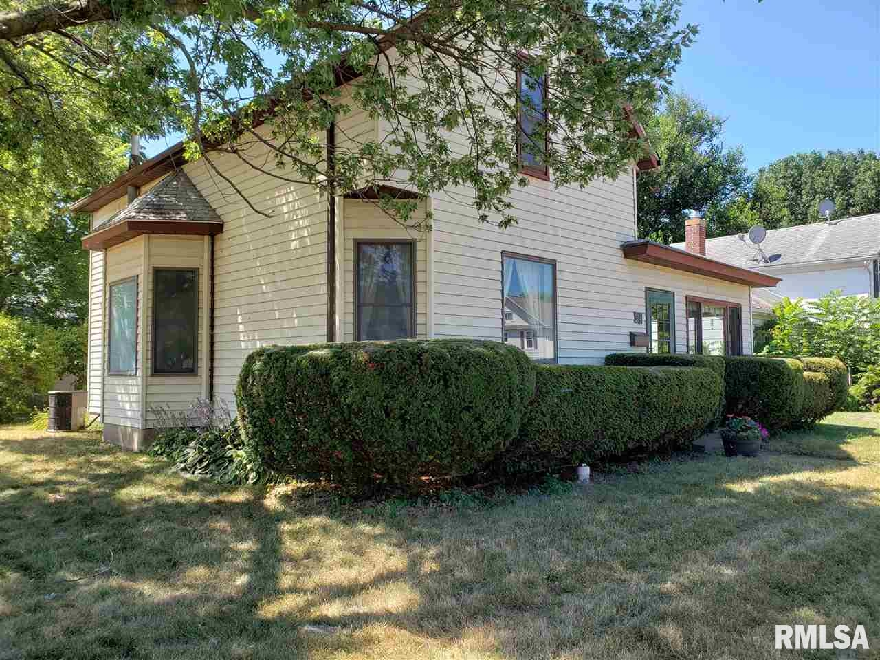 """This listing also includes parcel number 01-28-334-001 Total of .25 acres of in town living. What a great opportunity  3 bed 1 bath home waiting for new owners. Lots of added pluses here. 4 car garage (deep) separate play house that is """"2"""" stories that has electric run to it, new stove and main floor laundry.  Bathroom completed remodeled down to the studs. 2012 roof partial tear off and replaced. This home for its era still shows charm and personality, but it will need some work.  Cash or conventional financing only"""