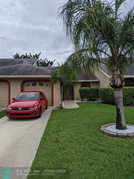 Beautiful  2-Bedroom, 2-Bath Villa with Vaulted Ceilings and a 1-Car Garage. The home features split bedroom floor plan, large walk in closets, updated bathrooms and a Screened Porch Out Back. Community with Pool and Low HOA Fee. All-Ages. No Leasing Allowed.
